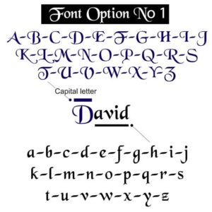 Font option 1